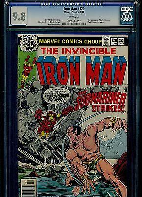 Iron Man 120 CGC 9.8 NM/MINT 1st Justin Hammer Sub-Mariner Marvel Comics 1979