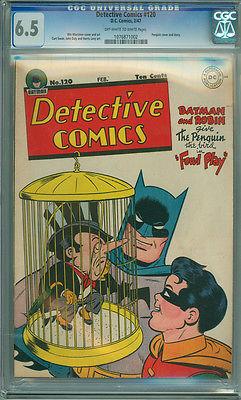 Detective Comics 120 CGC 6.5 FN+ OW/W Penguin Cover Batman DC 1947