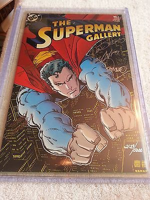 Superman Gallery No 1 Signed by Dan Jurgens/Neal Adams+ 1993, DC 2129/5000 NM