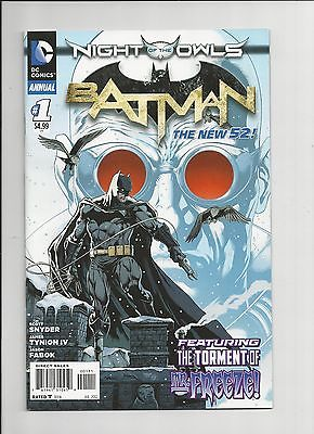 Batman new 52 annual #1 night of the owls VF MR. Freeze origin
