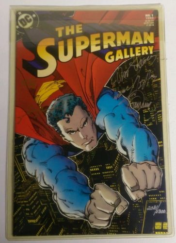 The Superman Gallery #1 1993 - Autographed by Curt Swan,  Dan Jurgens, others