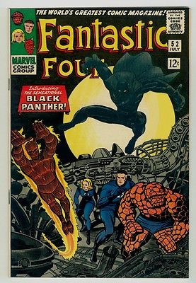 Fantastic Four #52 NM 9.4 OW/W pages 1966 Marvel 1st Black Panther appearance