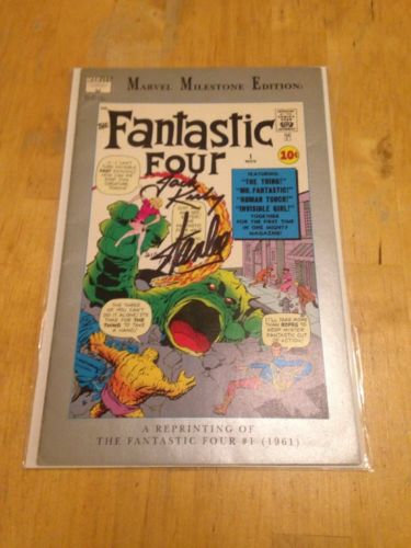 Fantastic Four Milestone #1 Reprint  Signed by Jack Kirby& Stan Lee 210/1961 WOW