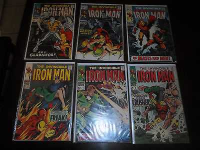 Huge Lot #126: 54 of IRON MAN #3 - #149 incomplete run silver age to copper age