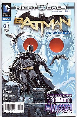 BATMAN ANNUAL #1 2012 NM DC NEW 52 COMIC BOOK NIGHT OF THE OWLS  ISSUE 1