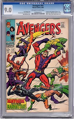 Avengers 55 CGC 9.0 - 1st appearance of Ultron - high grade silver age key
