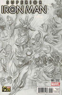 Superior Iron Man #1  1:300 Alex Ross sketch variant 75th Anniversary- NM Rare