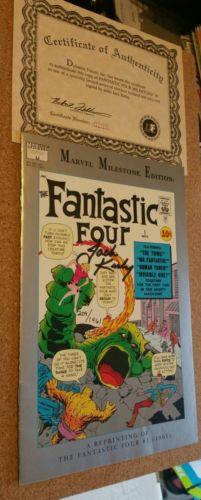 Fantastic Four Milestone #1 Reprint  Signed by Jack Kirby  209/1961 WOW