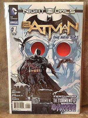Batman Annual #1 Night of the Owls, The New 52, Origin of Mr. Freeze  VF