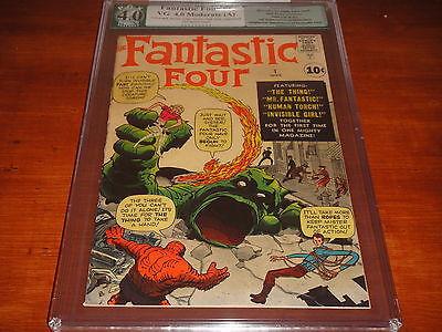 Fantastic Four #1 Vol 1 PGX 4.0 (Like CGC) Very Nice Original 1961 1st App of FF