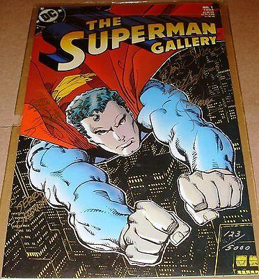 Superman Gallery SIGNED Curt Swan Ordway Jim Steranko Perez Adams Jurgens COA