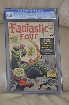 MARVEL 1961 FANTASTIC FOUR 1 CGC 6.0 (OW) FIRST FANTASTIC FOUR NEW PICTURES