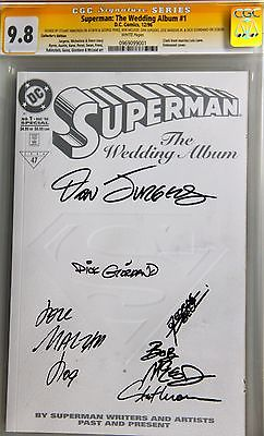 CGC SS 9.8 Superman: The Wedding Album #1 Signed by Perez, Immonen, Jurgens, + 3