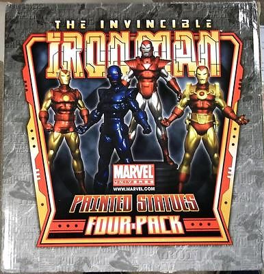 "IRON MAN FOUR PACK 139/300 LIMITED EDITION BOWEN DESIGNS STATUE ""MARVEL"" NIB"