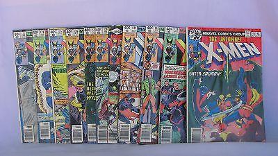 Lot of Uncanny X-Men #s 115, 122, 124, 125, 126, 128, 129, 130, 131, 132, & 133