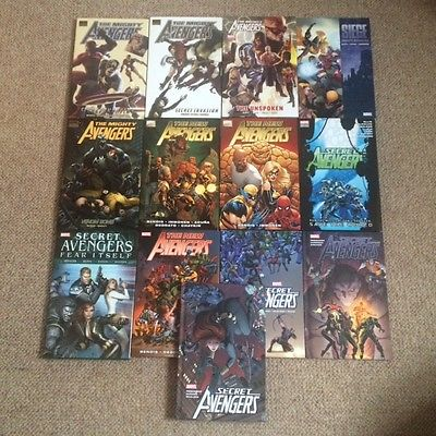 13 x Avengers Hardback Graphic Novels - Mighty Avengers, New Avengers, Secret NM