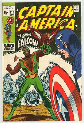 CAPTAIN AMERICA 117 5.0 118 4.5 NICE GLOSSY BOOK 1ST FALCON AND 2ND FALCON FE