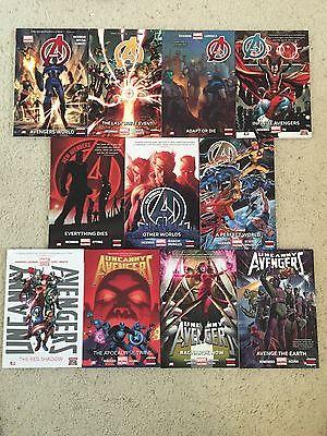 Avengers/New Avengers/Uncanny Avengers- Lot of 11 HC -NM- NO Digital Code