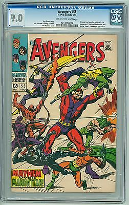The Avengers # 55 CGC 9.0 VF/NM KEY 1st Full Ultron - Age of Ultron Movie Soon