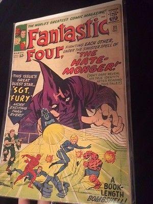 Fantastic Four #21 (1963, Marvel) Fantastic Four LOT of FOUR comics