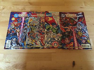 DC Versus Marvel / Marvel Versus DC #1 #2 #3 #4 PLUS AMALGRAM BOOKS