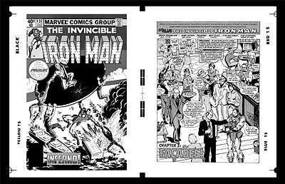 Bob Layton Iron Man #137 Cover And Pg 1 Rare Large Production Art