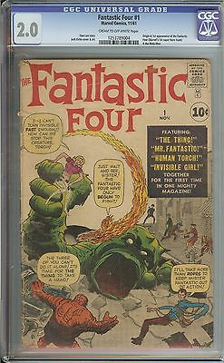 FANTASTIC FOUR #1 CGC 2.0 CR/OW PAGES // ORIGIN/1ST APPEARANCE OF FANTASTIC FOUR
