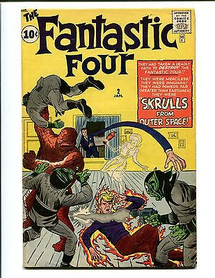 FANTASTIC FOUR 2 VG/F-(4.5-5.0) O/W T W VOLUME 1 1ST SKRULLS111 NICE CGC IT