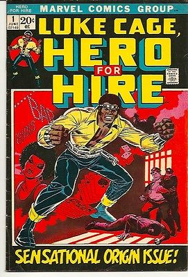 LUKE CAGE HERO FOR HIRE ISSUE #1 (June 1972) MARVEL COMIC BOOK FINE CONDITION
