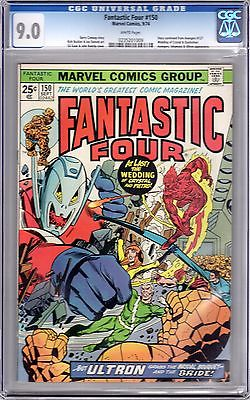 Fantastic Four 150 CGC 9.0 - Ultron & Inhumans - Cont'd from Avengers #127 / 55