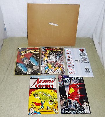 Superman Gallery Legacy Kit Mint In Package COA's Autographed 1993 Set