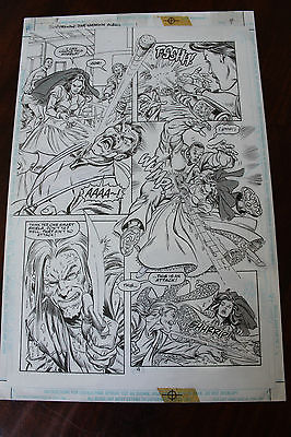 Original ART from SUPERMAN THE WEDDING ALBUM Page 4 1996 Gammill and Anderson