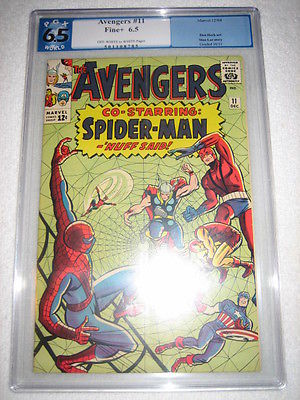 THE AVENGERS (1963 SERIES) # 11 PGX 6.5 - SPIDER-MAN COVER AND X-OVER CGC CBCS