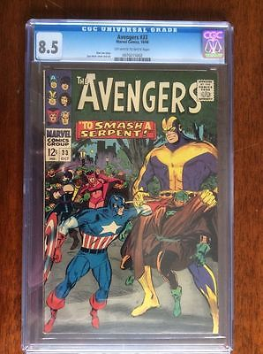 Avengers #33 CGC 8.5 NM- Avengers Key Silver Age Stan Lee Avengers Marvel Movie