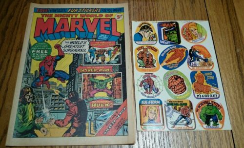 MIGHTY WORLD OF MARVEL #3 WITH ORIGINAL FREE GIFT, BEAUTIFUL CONDITION