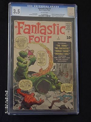 Fantastic Four #1  CGC 3.5 O/W Pages First App Fantastic Four NO RESERVE