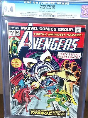 AVENGERS #125 CGC 9.4 1ST Thanos Vs. Avengers, AVENGERS MOVIE