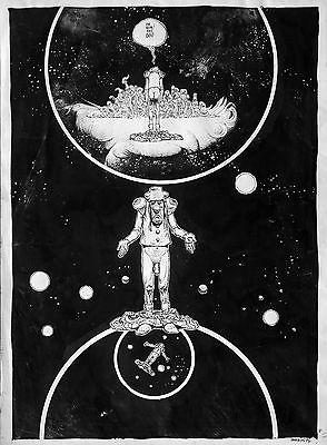 PLANCHE ORIGINALE - MOEBIUS - LE BANDARD FOU - 1974
