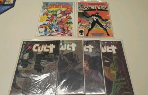 SECRET WARS #1, #8 VF/NM and Batman The Cult 1-4 VERY NICE