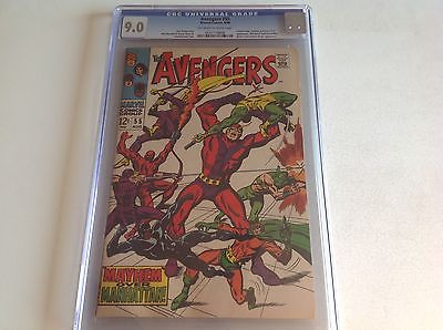 AVENGERS 55 CGC 9.0 OFF-WHITE TO WHITE PAGES 1ST ULTRON 1968 0237179008 LOT B