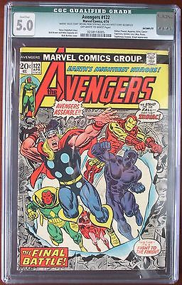Avengers #122 April 1974 CGC 5 Marvel Scarlet Witch Vision Iron Man Thor Panther