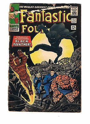 MARVEL COMICS FANTASTIC FOUR # 52 1ST BLACK PANTHER DAMAGED UNLIMITED SHIPPING