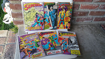 DC Comics Superman Lot of 6 Issue #'s 194,200,203,206,209,214 Silver Age 1967-69