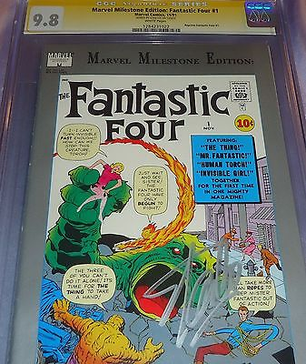 CGC SS 9.8 FANTASTIC FOUR #1 MARVEL MILESTONE EDITION SIGNED BY STAN LEE