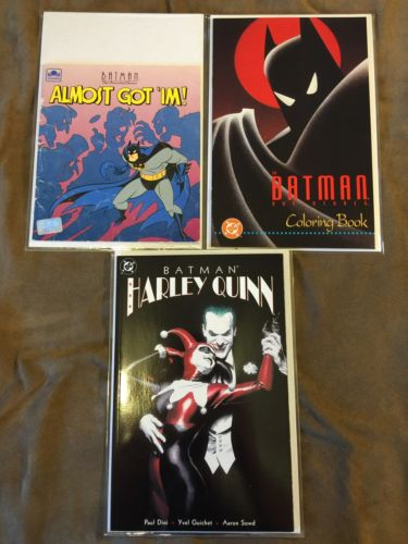 BATMAN ALMOST GOTIM HARLEY QUINN ADVENTURES COLORING BOOK LOT