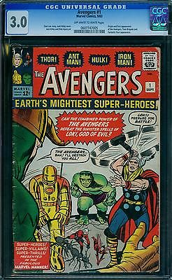 Avengers 1 CGC 3.0  1st Avengers  ow/w pages
