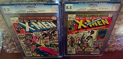 CGC UNCANNY X-MEN #110 (9.2) and #111 (8.5) (sold as set)