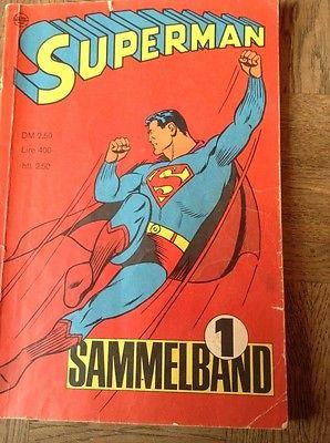 Superman Sammelband  ... Vier Hefte in einem Band ....1 bis 4 1966 Ehapa