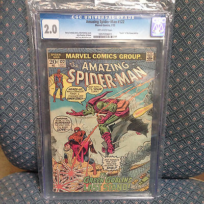 AMAZING SPIDER-MAN 122 GCC GRADED 2.0-DEATH GWEN STACY-AVENGERS/IRON MAN/PGX