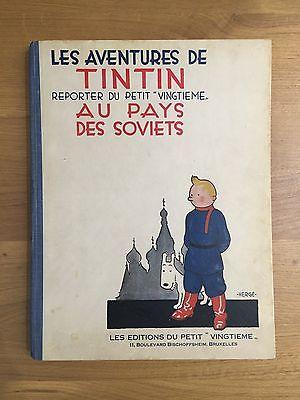 Herge Tintin au Pays des Soviets EO 1930 Petit Vingtième ETAT EXCEPTIONNEL RARE.